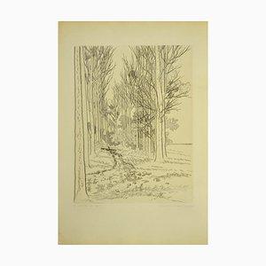 André Roland Brudieux, Landschaft, Originalradierung, 1960er Jahre