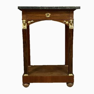 Parisian Empire Mahogany Inkstand Console Table, 1810