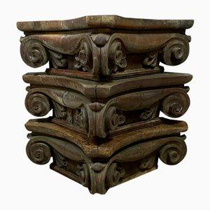 18th Century Oak Corinthian Architecture Elements, Set of 3