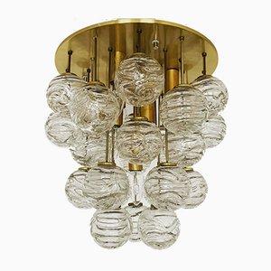 Goldene Deckenlampe aus Sideglas von Doria Leuchten, 1960er