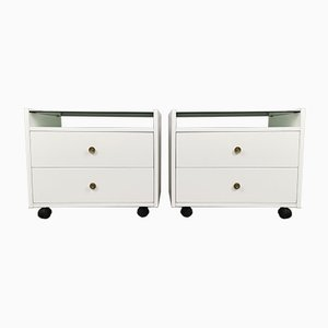White Lacquered Nightstands by Carlo de Carli for Luigi Sormani, 1960s, Set of 2