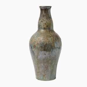 Handmade Ceramic Vase from Edgard Aubry, 1920s