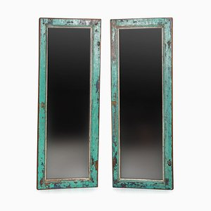 Antique Dutch Window Shutter Mirrors, 1900s, Set of 2