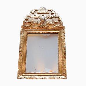 Kleiner Antiker Regency Spiegel mit Giebel