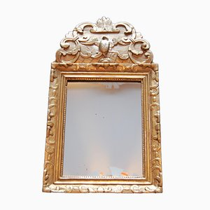 Small Antique Regency Mirror with Pediment