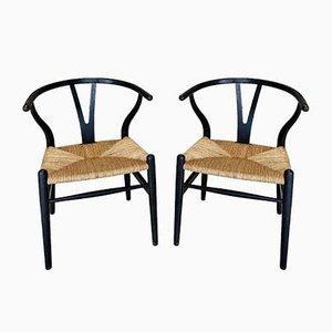 Esszimmerstühle von Hans J. Wegner für Carl Hansen & Søn, 1950er Jahre, 2er-Set