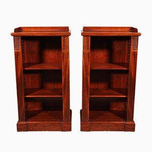 19th Century William IV Open Bookcases, Set of 2