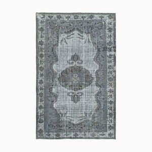 Grey Antique Handwoven Carved Over dyed Carpet