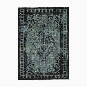 Black Antique Handwoven Carved Over dyed Carpet