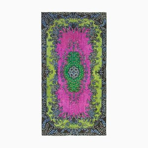 Brown Decorative Handmade Wool Overdyed Carpet