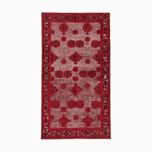 Red Overdyed Handmade Wool Large Carpet