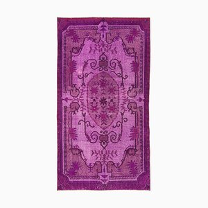 Purple Antique Handwoven Carved Over dyed Carpet