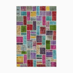 Multicolor Turkish Wool Handmade Vintage Patchwork Carpet