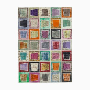 Multicolor Turkish Contemporary Handmade Vintage Patchwork Carpet