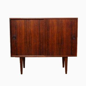 Sliding Door Rosewood Cabinet by Kai Kristiansen, 1960s