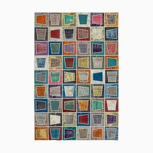 Multicolor Anatolian Antique Hand Knotted Vintage Patchwork Carpet