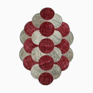 Multicolor Turkish Traditional Handmade Round Patchwork Carpet
