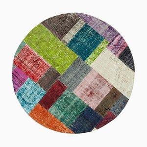 Multicolor Turkish Decorative Handmade Round Patchwork Carpet