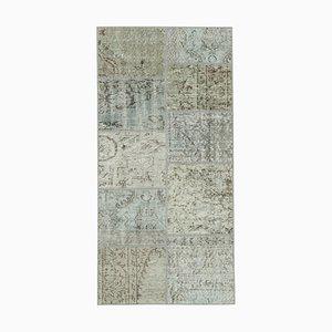 Tappeto grigio anatolico patchwork runner patchwork anatolico