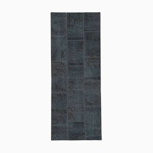 Vintage AnatolianGrey Hand Knotted Runner Patchwork Carpet