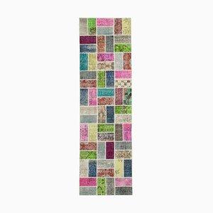 Tappeto multicolore Anatolian Patchwork Runner multicolor annodato a mano