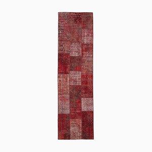 Oriental Antique Hand Knotted Runner Patchwork Carpet