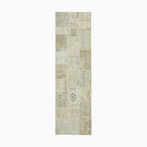 Alfombra de pasillo anatolia beige tradicional tejida a mano