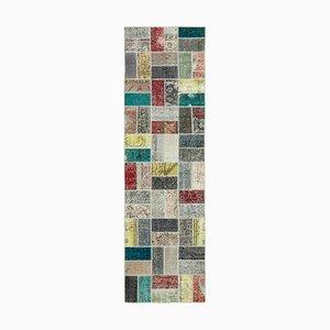 Multicolor Turkish Wool Handmade Runner Patchwork Carpet