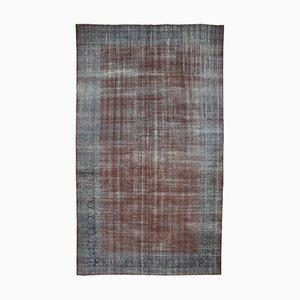 Grey Anatolian Wool Hand Knotted Large Overdyed Carpet