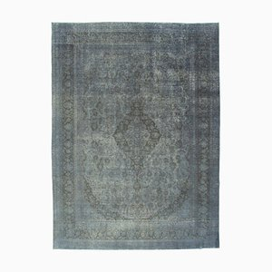 Purple Anatolian Low Pile Hand Knotted Large Overdyed Carpet