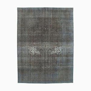 Grey Oriental Traditional Hand Knotted Large Overdyed Carpet
