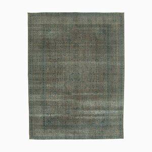 Grey Turkish Antique Handmade Large Overdyed Carpet