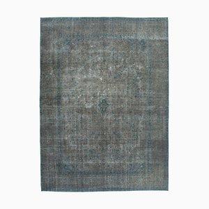 Grey Anatolian Decorative Hand Knotted Large Overdyed Carpet
