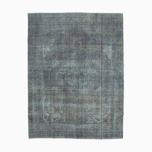 Grey Turkish Wool Handmade Large Overdyed Carpet