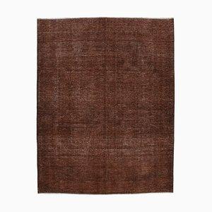 Brown Turkish Decorative Handmade Large Overdyed Carpet