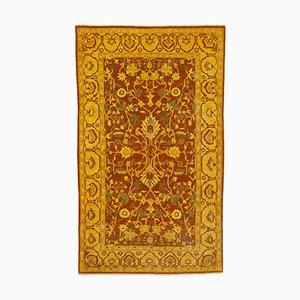 Yellow Turkish Wool Handmade Large Vintage Carpet
