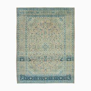 Beige Anatolian Antique Hand Knotted Large Vintage Carpet