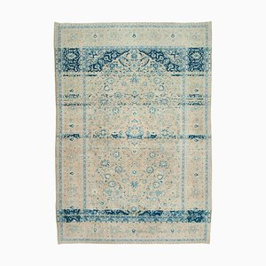Beige Anatolian  Decorative Hand Knotted Large Vintage Carpet