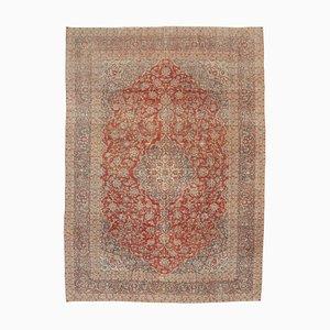 Beige Oriental Antique Hand Knotted Large Vintage Carpet