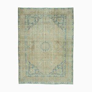 Beige Anatolian Decorative Hand Knotted Large Vintage Carpet