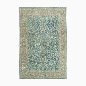 Blue Turkish Contemporary Handmade Large Vintage Carpet