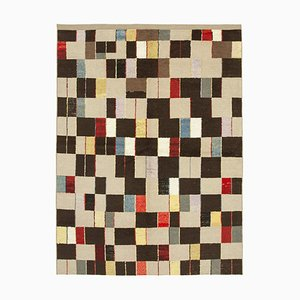 Beige Oriental Hand Knotted Wool Flatwave Kilim Carpet