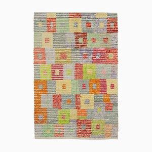 Multicolor Turkish Handmade Wool Flatwave Kilim Carpet