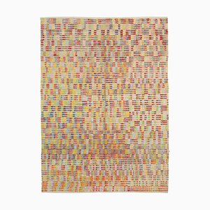 Weicher anatolischer anatolischer Flatwave Kilim Teppich aus Wolle