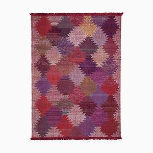 Red Hand Knotted Oriental Wool Flatwave Kilim Carpet
