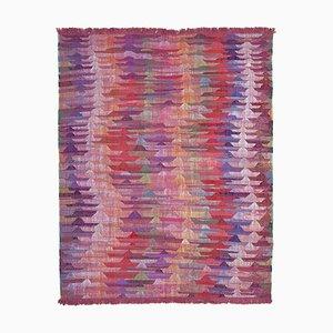 Red Handmade Turkish Wool Flatwave Kilim Carpet