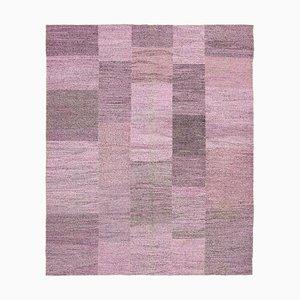Purple Handmade Decorative Wool Flatwave Kilim Carpet