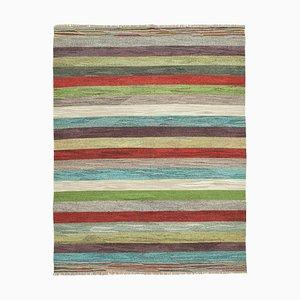 Large Vintage Turkish Multicolor Wool Kilim Carpet