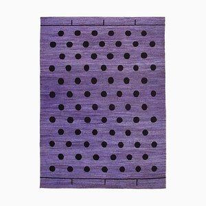 Purple Handwoven Decorative Flatwave Large Kilim Carpet