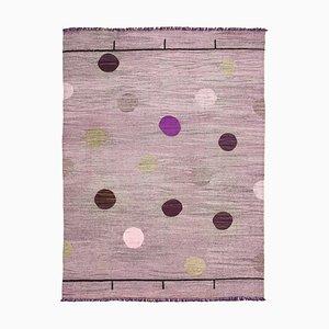 Purple Handmade Turkish Wool Flatwave Kilim Carpet